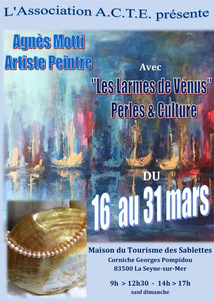 Les larmes de Venus et Agnès Motti @ Maison du Tourisme des Sablettes